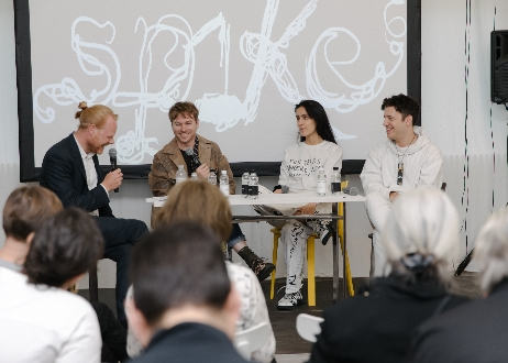 "Spike Forum: ""The Artist  as Creative Director / The Creative Director as Artist"", at the Joinery, photo by Diana Pfammatter, LISTE"