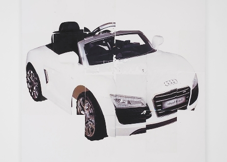Jenny's; Gili Tal, KidFun Products Audi Licensed TT 2017 Kids 12v Battery Powered Ride-On Car – White, 2016, Lazertran and varnish on canvas, 64 x 48 inches / 162.5 x 122 cm