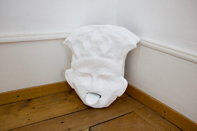 Le rut animal, 2018 (section), by Gina Proenza, plaster, sieve and motors Picture: Martina Flury